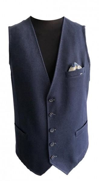 Jersey blazer waistcoat, 2-tone